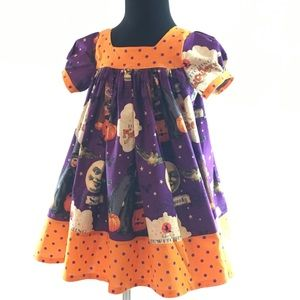 4t Toddler Purple Short Sleeve Halloween Dress NEW
